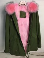 animal arctic fox - seeyou2015 Ladies Long Parka with hood Mr Mrs Italy Women Canvas Jacket Real arctic Fox fur Liner