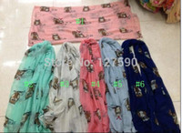 animal scarf pattern free - Hot Sale Women New Owl And Heart Print Scarf Animal Pattern Shawls And Scarves Hijab Wrap Owl Viscose Scarf color