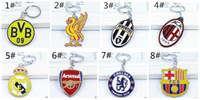 Wholesale Euro Cup Keychains Newly Zinc Alloy Pendant Key Rings Keychains Styles For Choice Football Fans Key Chains Party Promotion Gift