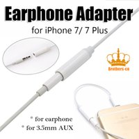 auxiliary adapter - 2016 hot selling earphong adapter headset adapter changer for earphone mm auxiliary audio adapter universal for iphone plus