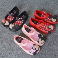 Wholesale Summer Children Toddler Minnie Sandals Kids Girl Cartoon Jelly Shoes Fashion Lovely Shoes Colors Gift LJJQ33