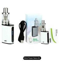 100% auténtico Eleaf iStick Power Nano Kit 1100mah iStick Potencia Nano 40W TC Mod con 2ml Melo 3 Nano Tanque