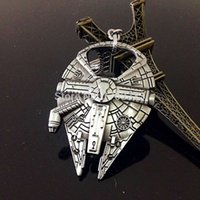 Wholesale 2016 Hot Movie Star Wars Millennium Falcon Bottle Opener Alloy KeyChains For Fans Xmas Collection YBV