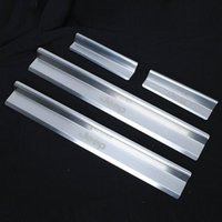 auto door guards - Auto Accessories Door Stainless Steel Scuff Plate Door Sill Entry Guard For Jeep Wrangler JK Per Set Car Styling