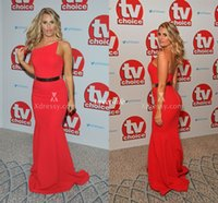 armstrong blue - Sexy Danielle Armstrong Classic Red Satin Mermaid Evening Prom Gowns TV Choice Celebrity Dresses Backless Plus Size Party Dress Cheap