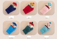 Wholesale Christmas Bear knitted gloves children gloves thick warm gloves cartoon