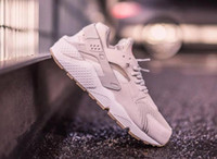 ankle height sneakers - 36 Top quality with original box Air Huarache Run TXT Light Bone man sports shoes women sneakers