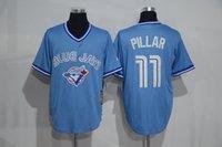 Flat apparel new collection - Blue Jays Pillar SKY Blue Baseball Jerseys Throwback Fashion Baseball Uniform Hotest Baseball Apparel New Collection