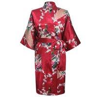 lingerie xxx - Burgundy Chinese Women Silk Rayon Nightgown Sexy Lingerie Robe Summer Sleepwear Kimono Bath Gown Pijama S M L XL XXL XXX A