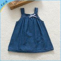 bonnie baby - New styles online shipping deep blue denim kids bonnie summer dresses m years baby girls dress jeans