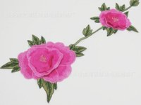 Wholesale Pink Flower Embroidered Lace Neckline Collar Lace Venice Venise Applique Motif Patches Scrapbooking Embossed Sewing Accessories