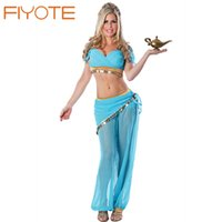 adult dancer costumes - FIYOTE Arabian Belly Dancer Costume LC8748 Sexy Adult Cosplay Genie Halloween Costume for women Seductive Beauty Slave Costumes