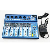 Wholesale Channel F7 USB Input Mixer For Stage Home Karaoke V Phantom Power Supply Mixing Console DJ equipment