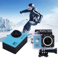 Wholesale Ultra HD K P M WiFi Sport Action Camera Diving Waterproof DV Helmet Video Camcorder DVR SJ8000 Plus Eken H9