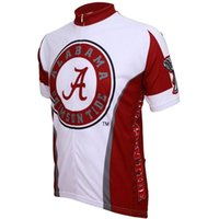 Wholesale Alabama Crimson Tide Cycling Jersey Adrenaline Promotions Logo Sportswear Cycling Jersey Mens Men s Short Sleeve Cycling Jerseys wear