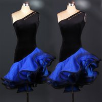 adult competition dance costume - 7 colors Adult Latin dance competition clothing new sexy fish bone oblique skirt dress Latin Latin dance costumes can be customized