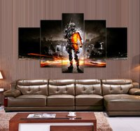Wholesale Battlefield Painting For living room decoration pictures print on canvas panel canvas wall art artwork painted with frame