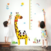 applying wall stickers - Giraffe DIY children s height decorative wall sticker removable growth chart sticker for wall decor CM size easy to apply pc opp bag