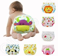 Wholesale 100PCS Waterproof Cartoon Disposable Baby Diaper Animals Prints Baby Cloth Nappy Diapers Toddler Training Pants Underwear Multi Color JJA24