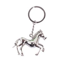 auto racing accessories - Fashion silver horse RACES Creative Pendant Charm Purse Bag Key Chain Auto Accessories Send Friend Gift