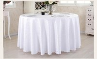 Wholesale Hotel Restaurant Tablecloth With Wash Gold Restaurant Meeting Sarong Round Table Cloth cm More color White Hot Selling