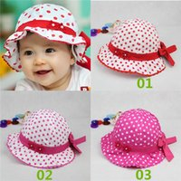 baby bucket hat pattern free - New Arrivals Baby Girl s Children s Toddler Sunhat Outdoor Bucket Hats Beach Caps Patterned With Bow Cotton Blends GA456 Free Ship