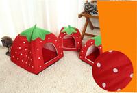 Wholesale 2016 new Dog house special pet nest pet supplies cat nest strawberry nest for four color