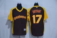 batting practice baseballs - Kris Bryant All Star Game Jersey Brown Chicago Cubs Cool Base Batting Practice Player Baseball Jersey