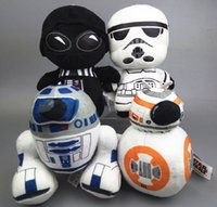 animal action games - 4pcs Star Wars Plush Toy cm action figures Character Plush Doll Super Deformed Boba Robot Strom Stuffed Animal doll Plush Toys