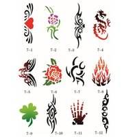 art booklet - 100 Designs Self Adhesive Body Art Temporary Tattoo Airbrush Stencils Template Booklet of Butterfly and Animals Booklet