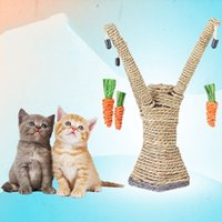 Halloween activity board - High Quality Cat Scratch Board Pet Teaser Toy Cat Scratching Tree Hanging Carrot Pet Kitten Chewing Play Activity CM JJ0141