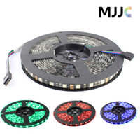 Wholesale Black PCB Waterproof M White Warm white RGB Red Green Blue SMD LED Flexible Strip Light IP65