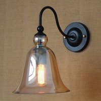 amber cafe - Vintage wall light lighting maching amber glass wall lamp for bedroom dinning living room aisle bed balcony cafe sconce fixture