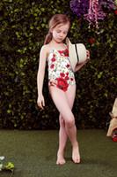bathing suit designers - Wl Monsoon Girls Swimwear Bikini Summer One Piece Kids Swimsuit Poppy Flower Print Swimsuit Designer Kids Swimwear Girls Bathing Suits