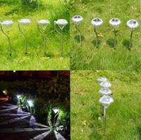 Precio de Luces led solar led solar-2016 nuevo inoxidable de energía solar LED brillante de ahorro de energía a prueba de agua de diamante Shape Light Lampe césped para jardín al aire libre decorativa
