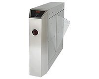Wholesale Residential school security office building fingerprint attendance entrance security channel cm single core wing door machine