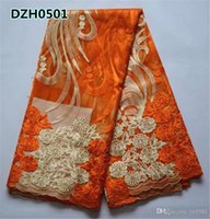 Wholesale Cheap Price African French lace fabric High quality African Tulle lace fabric for wedding dress DZH05