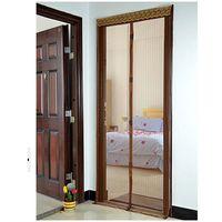 Wholesale Magic Mesh Screen Door Magnetic Anti Mosquito Bug Curtain Coffee x cm