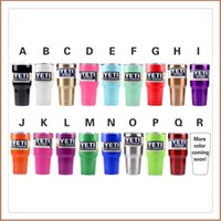 Wholesale 17 Colors Yeti Coolers Rambler Tumbler Yeti Stainless Steel Mug Green Gold Pink Orange Red Purple Blue Yeti In Stock