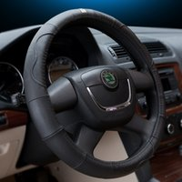 Wholesale Steering Wheel Covers with Genuine Leather diameter cm Spoke Wheel Healthy Car Interior Gift for men and women Free shiping