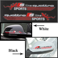 audi mirror covers - Car Mirror Cover Decal Stickers Quanttro S line Reflective Stickers For AUDI A1 A3 A4L A5 A8 Q3 VOLKSWAGEN VW Car Styling