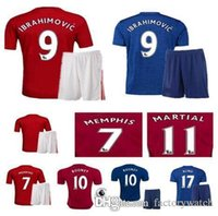 best quality polo shirt - Best thai quality MancHESTER kit IBRAHIMOVIC Pogba Rugby jerseys AWAY BLUE ROONEY MEMPHIS MARTIAL unITED ball SHIRT