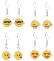 Wholesale 2016 Newest QQ Expression Emoji Tassel Dangle Earrings Time Gem Eardrop Women Fashion Jewelry High Quality