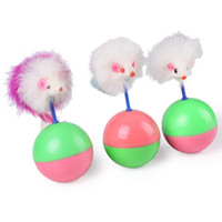 Wholesale Durable Pet Cat Toys Mimi Favorite fur Mouse Tumbler Plastic Toys Balls for Cats dogs play cm WA0673