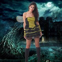 adult bee costumes - Sexy Adult Cosplay Classic Fancy Dress Sexy Bee costume Halloween Party Costumes For Women