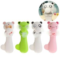 baby timers - NEW Portable Cartoon Cute Lovely Animals Panda Bear Pig Mini Cool Hand Pressure Fans Baby Children Kids Great Gift Present Toy