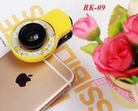 beauty tablets - Free DHL RK09 Night Using Beauty Selfie Sycn Special Effect Phone LED Light Flash light w Micro Fisheye Wide Lens for Phone Tablet