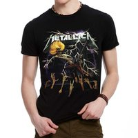 band shirt printing - Fashion Men s D Metallica Band Print Short Sleeves loose Black T shirt Top TEE