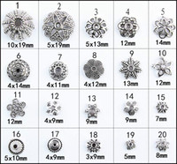 Wholesale Hair silver DIY craft Tibetan silver pendant earrings accessories receptacle taqiyah semi finished products do act the role ofing is tasted