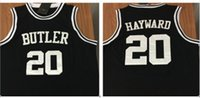 Wholesale Gordon Hayward Butler College Basketball Jersey Black Custom sewn Basketball Jersey number and name any size